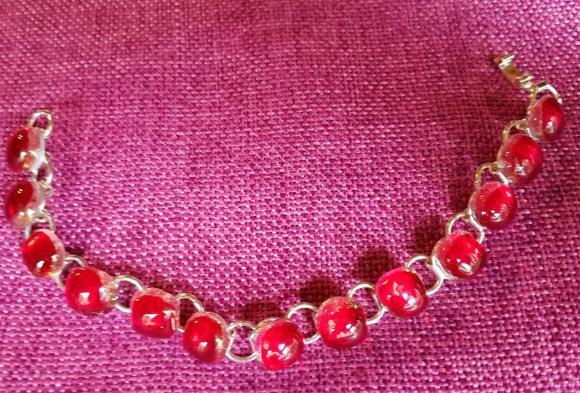 Candy Apple Red link bracelet