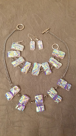 Glacier Necklace, bracelet and earrings