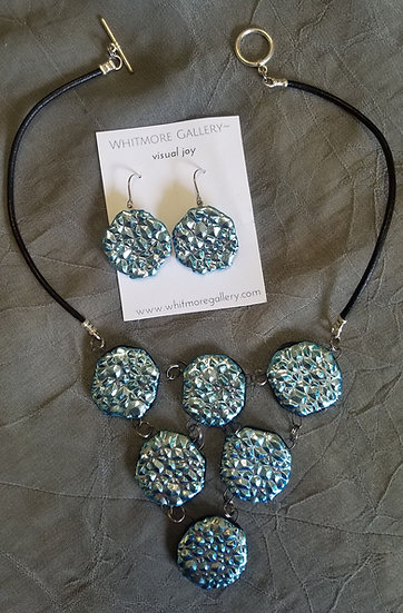 Glacier Love necklace and earrings