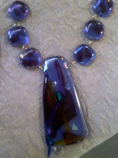 Blue Moon Drop Center Necklace