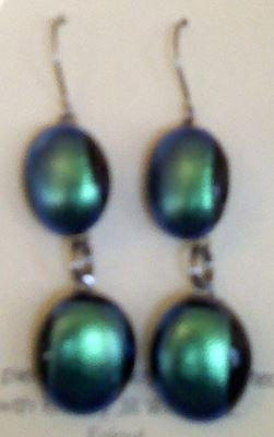Midnight Two-Tiered Earrings