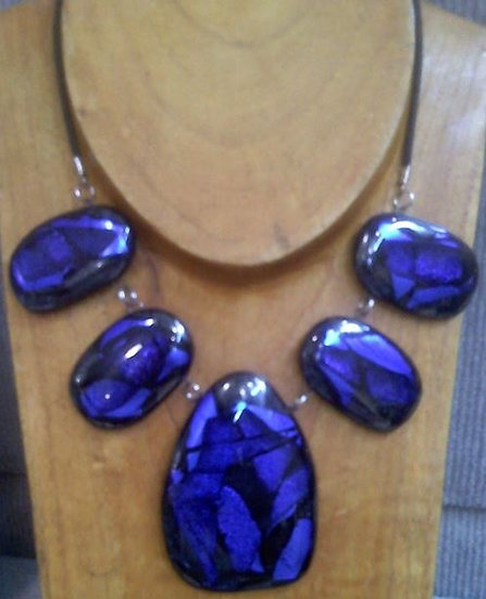 Seahawk Blue Chunky Necklace
