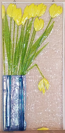 Yellow Tulips In Vase