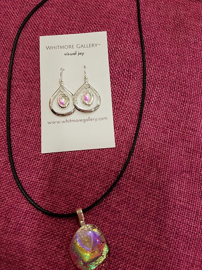 Aurora Pendant and Earrings