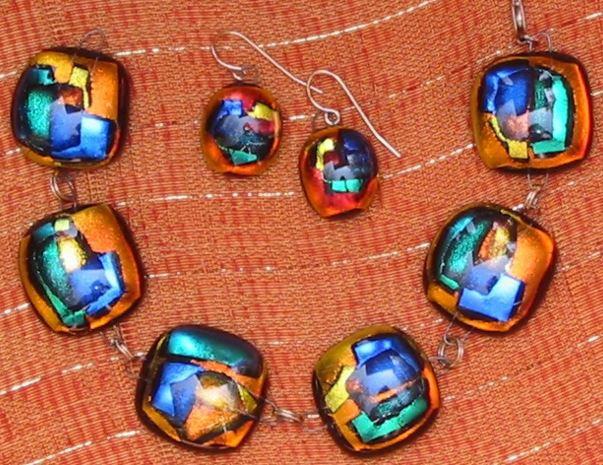 Gold Geometric Bracelet and Earrings Set