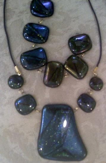 Green Goddess Necklace and Bracelet Set