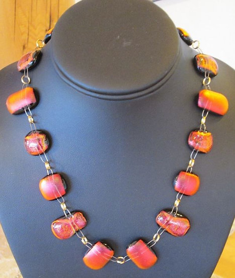 Flame Full Wrap Around Necklace