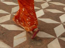 Henna-ed Feet at the Taj
