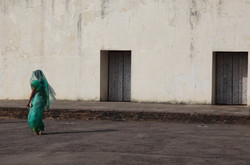 Indian Lady in Green Sari