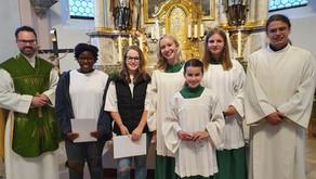 Neue Ministrantin in St. Ulrich