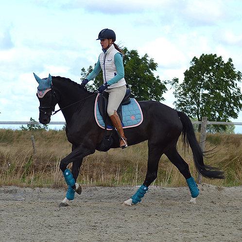 Dapple Dressage Teal Saddle Pad
