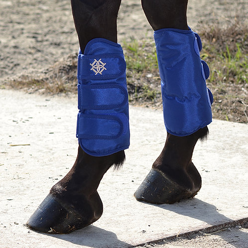 Dapple Blue Dressage Boots Front