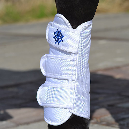 Dapple Dressage Boots White Front