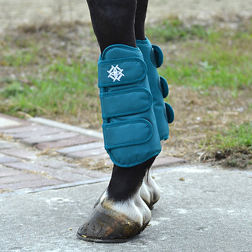 Dapple Dressage Boots Teal Front