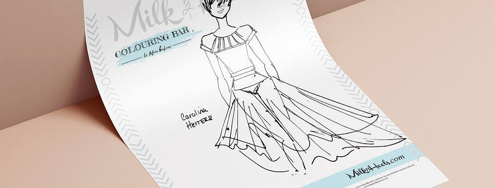 Fashion Look 11 - Colouring Page