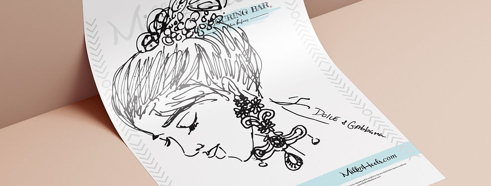 Fashion Look 1 - Colouring Page