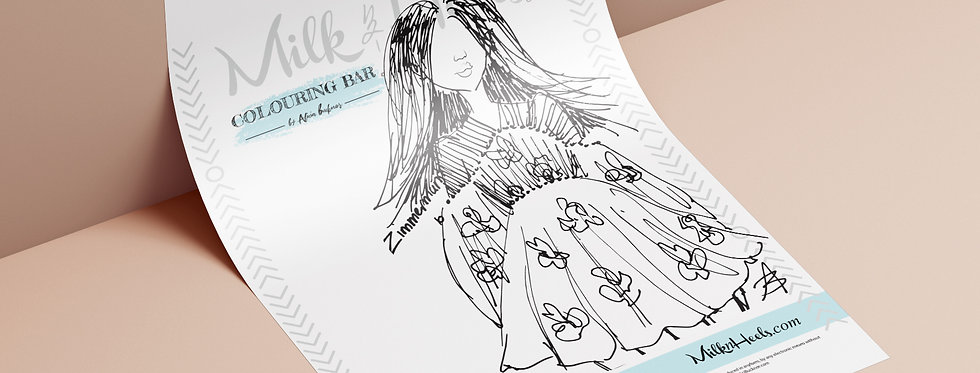 Fashion Look 2 - Colouring Page