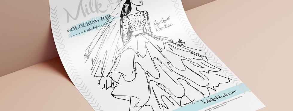 Fashion Look 8 - Colouring Page