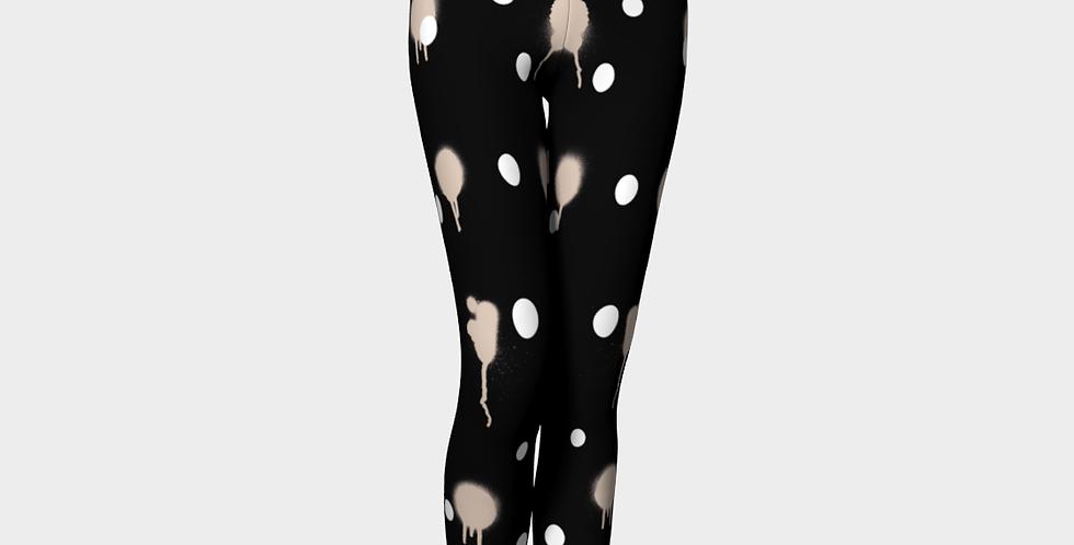 Milk & Heels Culture - Creamy Black out (Red Heels) - Leggings