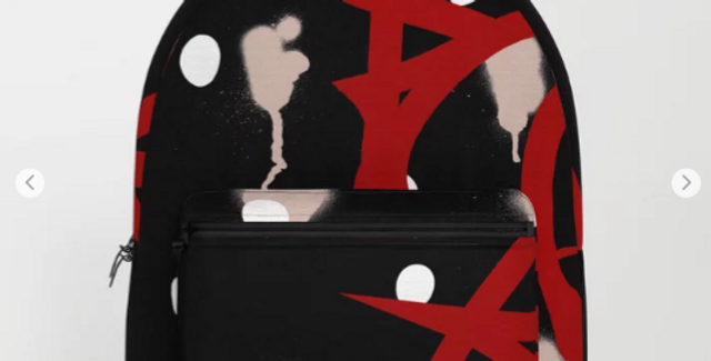 Milk & Heels Culture - Creamy Black out (Red Heels) -Backpack