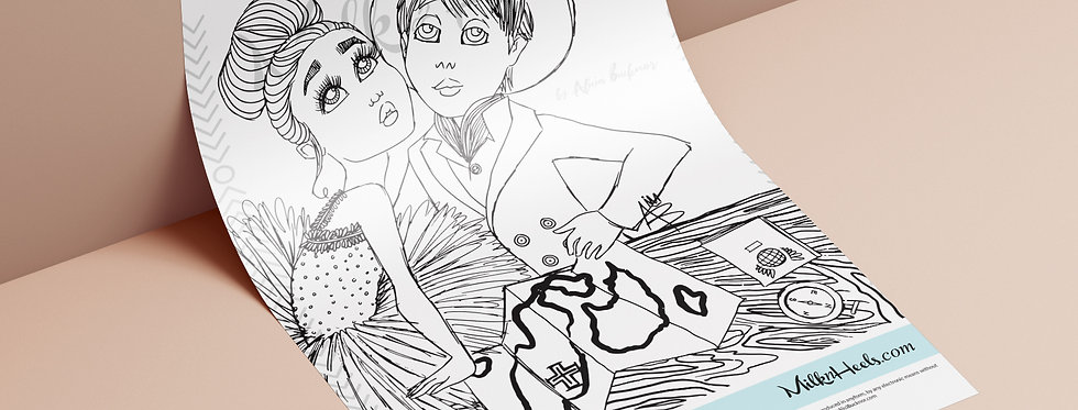 Ballerina's & Sailor's Edition Pt. 2 | Fashion Family Feature - Colouring