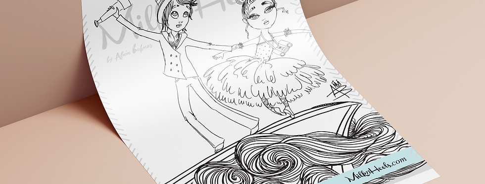 Ballerina's & Sailor's Edition | Fashion Family Feature - Colouring Art Page
