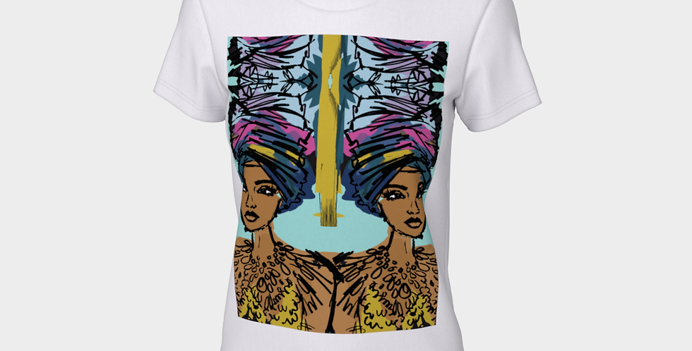Imani Queen  - Fitted T-shirt