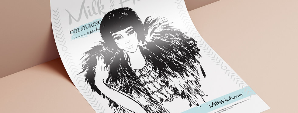Fashion Look 17 - Colouring Page
