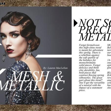 Mesh & Metallic Spring Trend