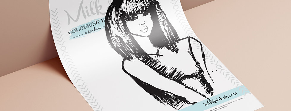 Fashion Look 14 - Colouring Page