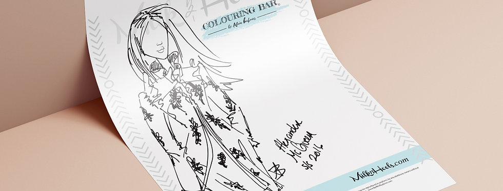 Fashion Look 10 - Colouring Page