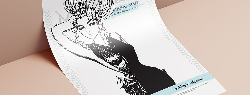 Fashion Look 15 - Colouring Page