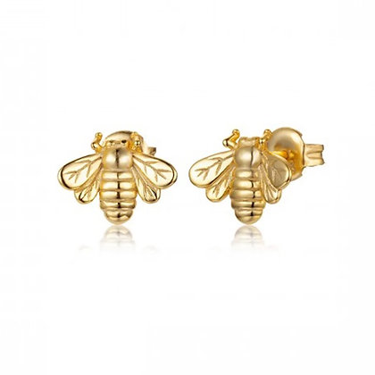 Gold Bee Stud Earring