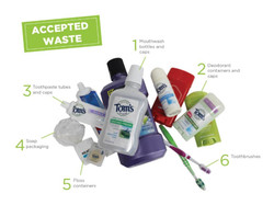 Toothbrush and bathroom recycling