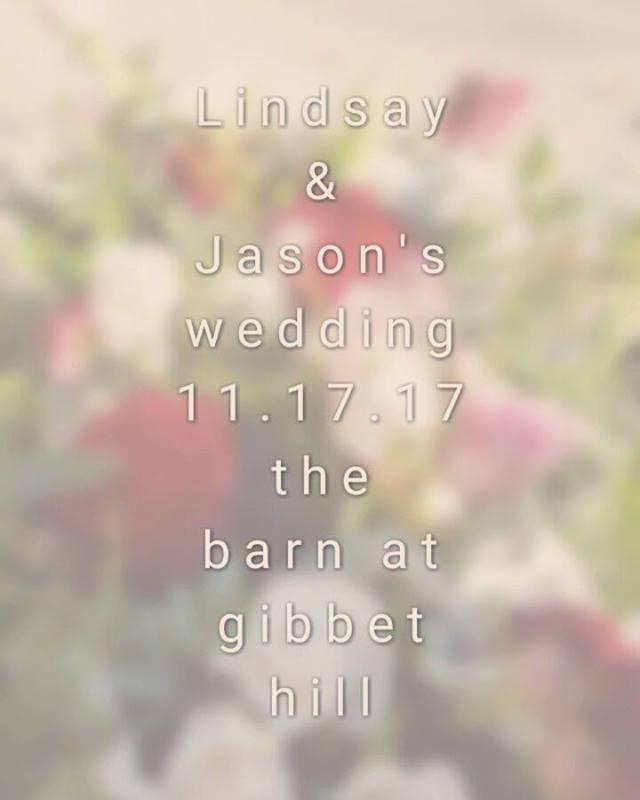 We've just wrapped up our 2017 wedding season! Congrats to Lindsay & Jason!  #goodbye2017weddings #wehadablast