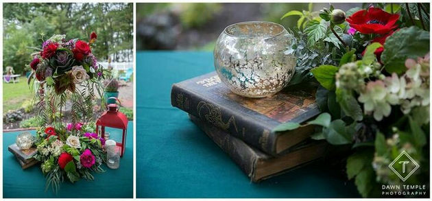 Vintage Books As Wedding Decor Yes Rustic Roots Design Wedding