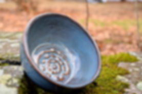 small stamped bowl by Sam-honey Pottery