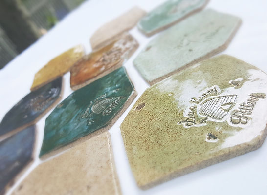 sam-honey pottery 2017 glaze sample tiles