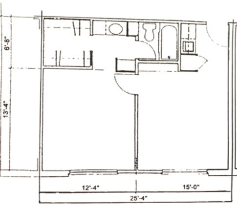 One Bedroom 506 sq.ft
