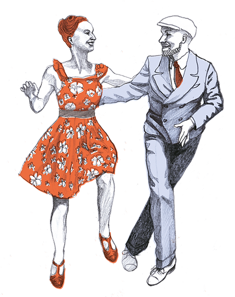 Lindy Hop offene Tanzposition
