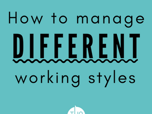 How to manage different working styles