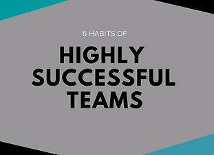 6 HABITS OF SUCCESSFUL TEAMS - INFOGRAPH