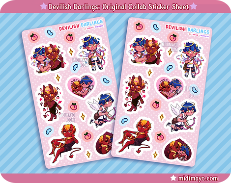 Devilish Darlings: Original Collab Sticker Sheet