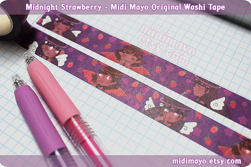 Midnight Strawberry - Midi Mayo Original Washi Tape