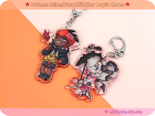 Raihan/Piers 2.5in Clear Acrylic Charms
