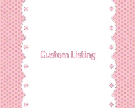 Custom Listing for Margo