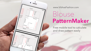 Draw Blouse pattern in just seconds
