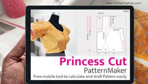 Princess cut Blouse PatternMaker