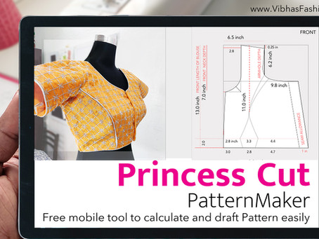 Princess cut Blouse PatternMaker