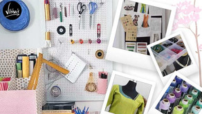 Sewing room organizing ideas